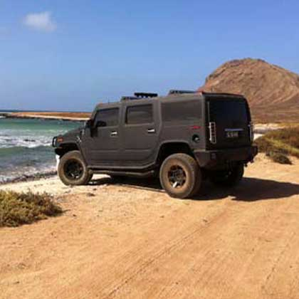Hummer tours in Cabo Verde or Cape Verde