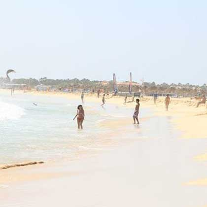 Beaches in Sal Cabo Verde or Cape Verde
