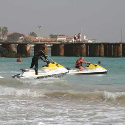 jet skiing in Cabo Verde or Cape Verde