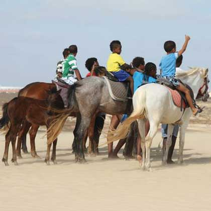 Horse riding on Sal, Cabo Verde or Cape Verde